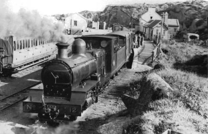 Steam train at Burtonport, Donegal