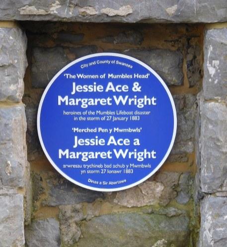 blue plaque women of mumbles head
