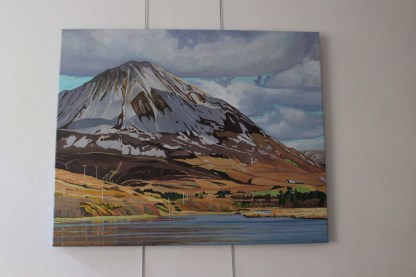 Painting of Errigal (studio)