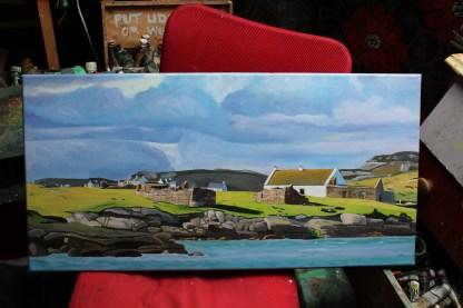 Painting Gola Island (studio)