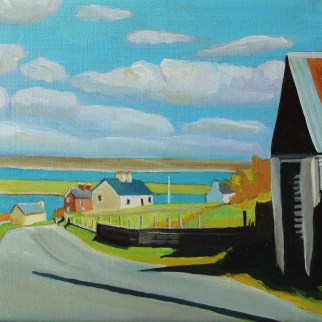 Painting of villae of Narin Way, Donegal