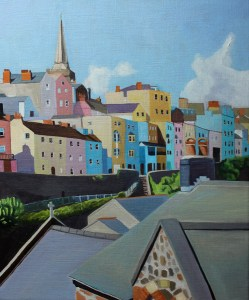 Painting of Tenby Harbour, Wales_Emma Cownie