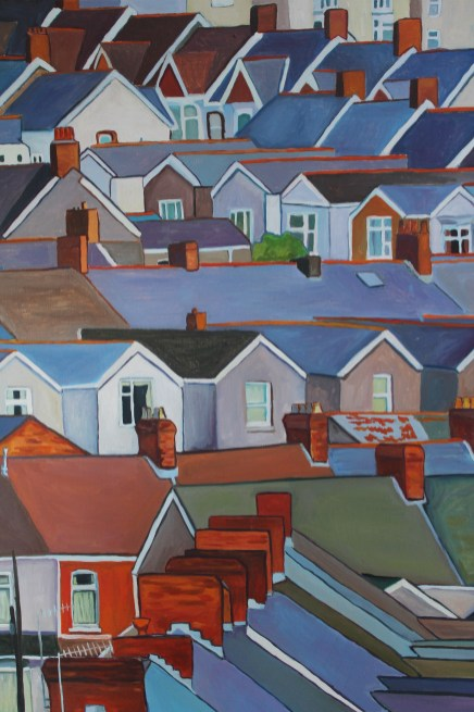 Painting of Swansea by Emma Cownie
