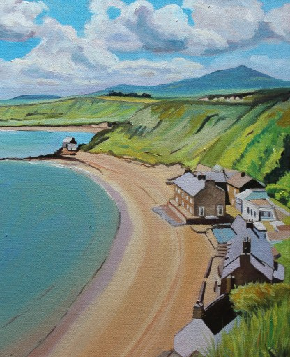 Painting of Morfa Nefyn by Emma Cownie