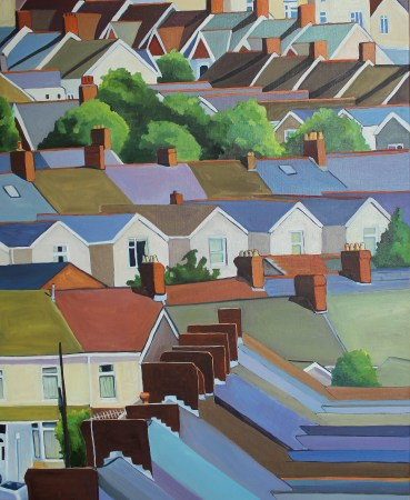 Painting of Uplands Swansea by Emma Cownie