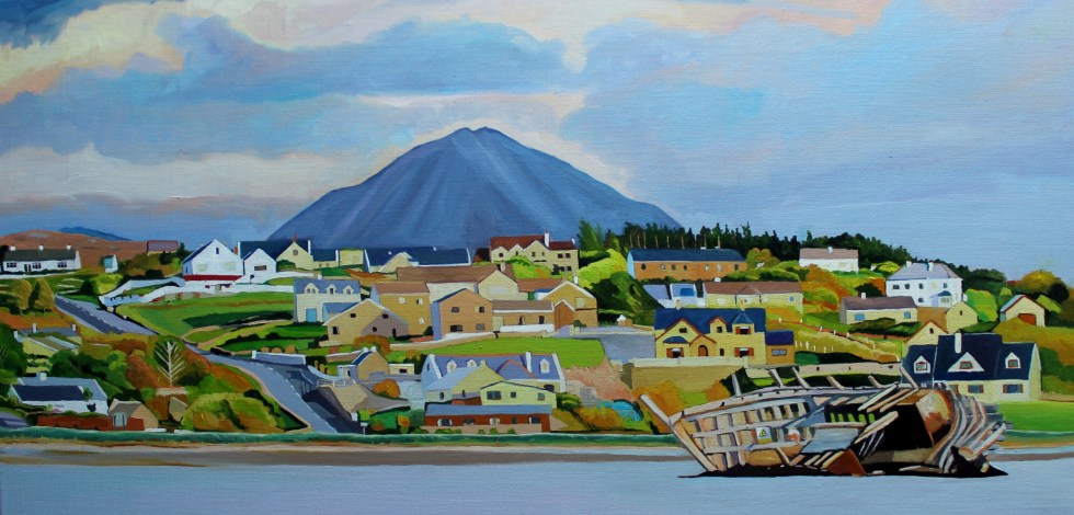 Painting of Bad Eddie, Bunbeg,Ireland