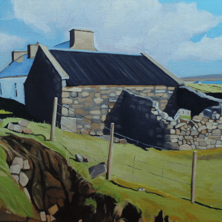 Painting of house, Gortgar, Arranmore