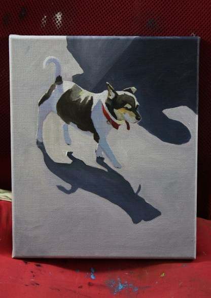 Painting of Jack Russell Terrier