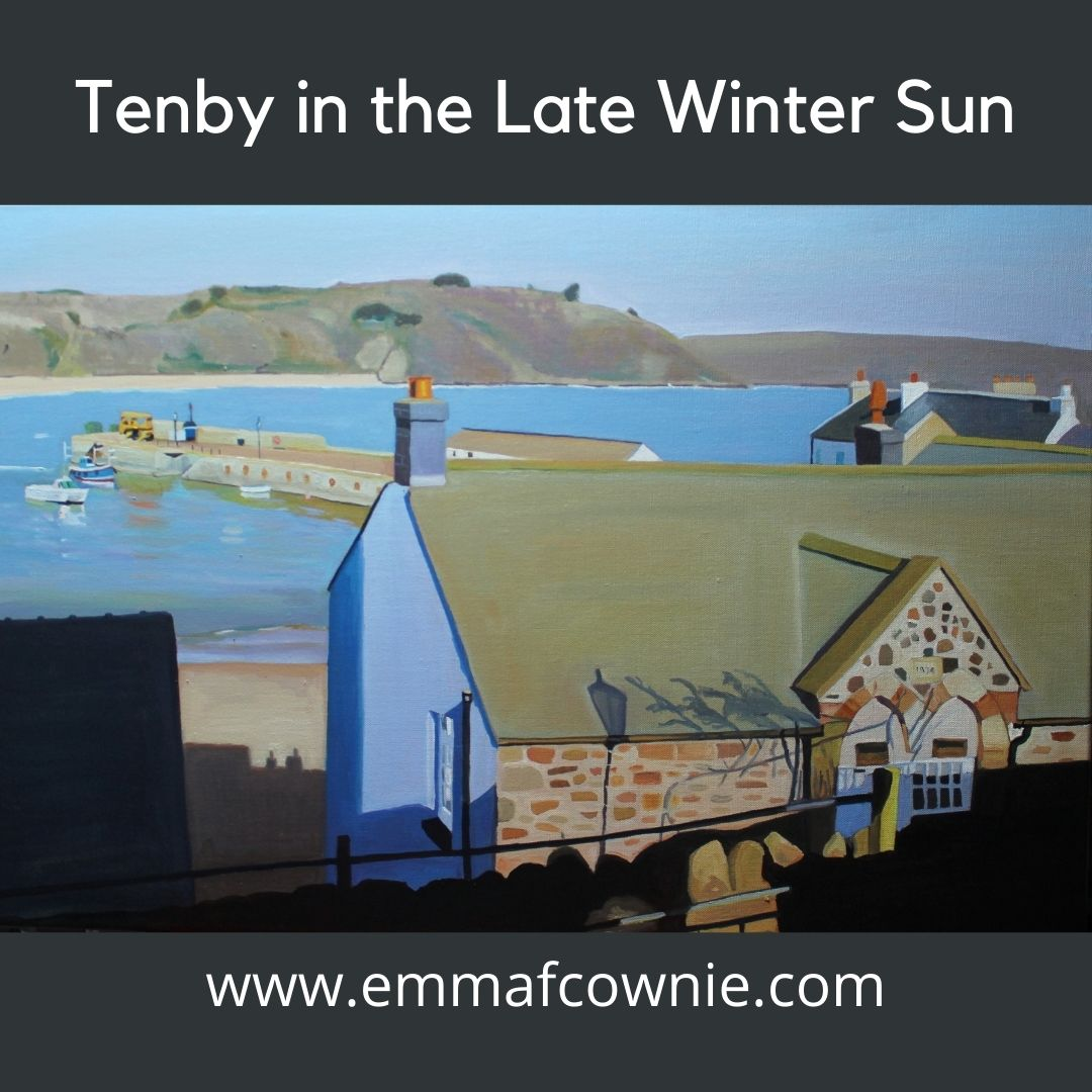 Tenby in the late winter sun