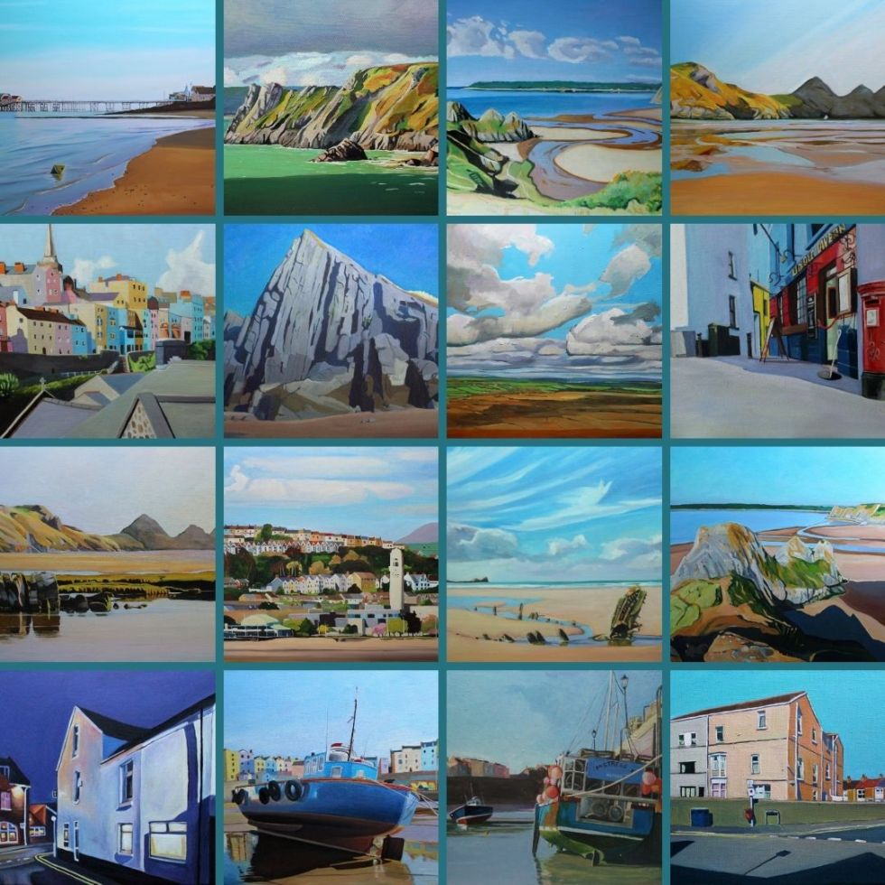 Some of my paintings of Wales sold in 2020