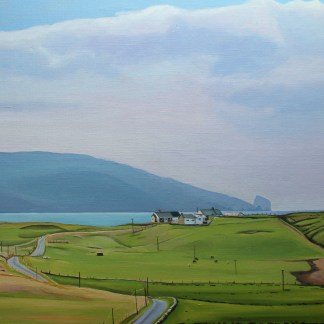 Painting of Tormore Island from Rosbeg, Donegal