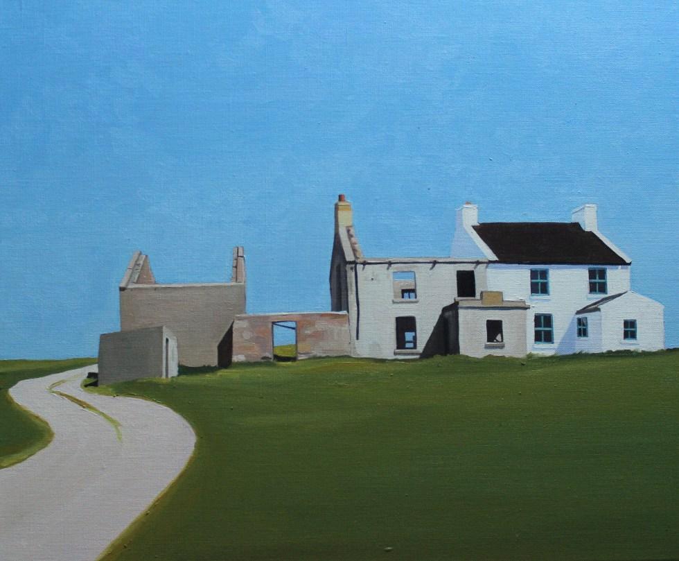 Painting of houses on Gola, Ireland