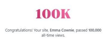 100,000 views - wow!