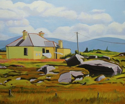 Painting of a Yellow House, Bunaninver