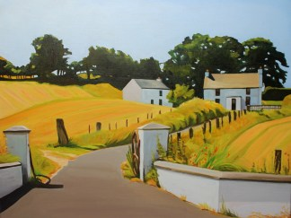 Painting of farmhouse, Donegal