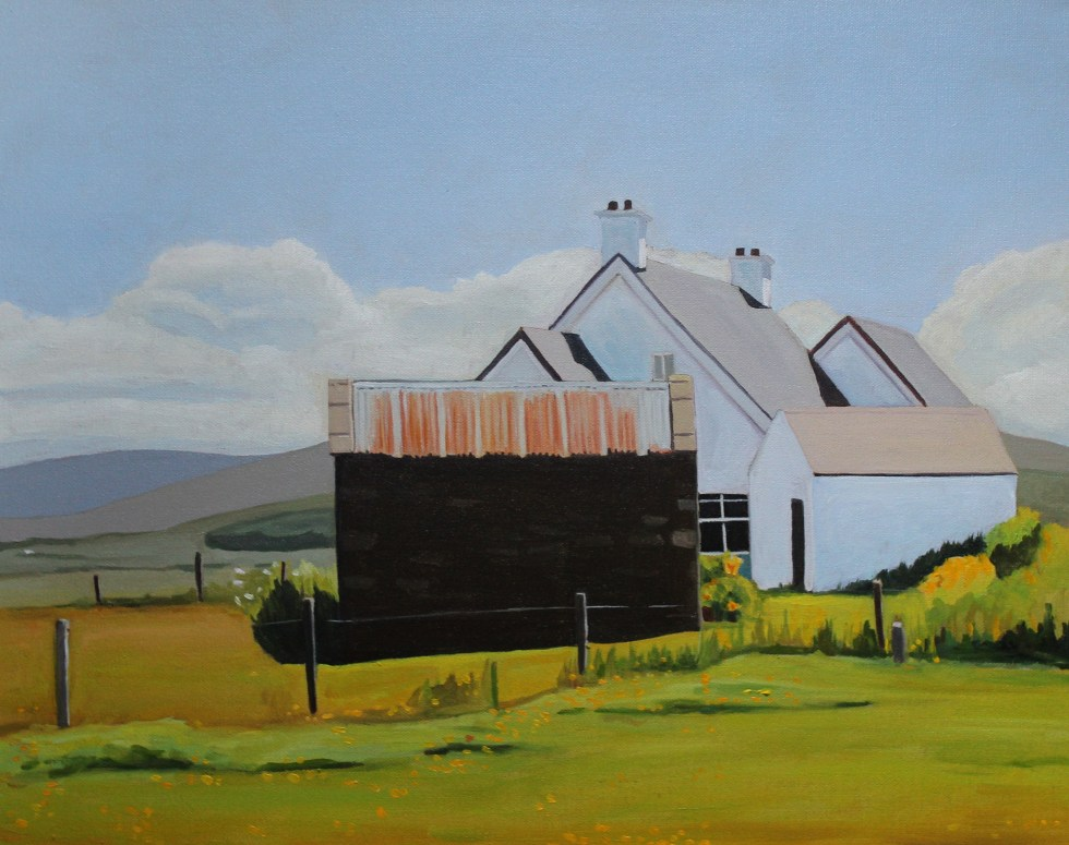 Painting of a Tin-Roofed Shed at Marameelan, Donegal