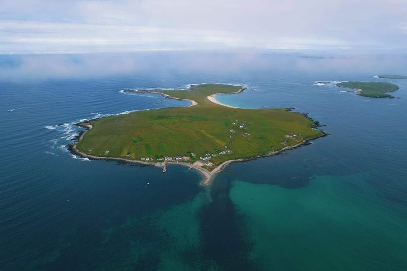 Aerial View of Inishbofin (from Inishbofin Ferry facebook page)