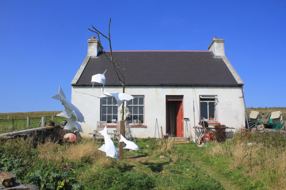 Cahill McGinley's Cottage (with origami scuplture)