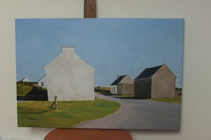 Painting of An Clachan on Inishbofin, Donegal