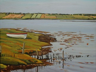 Painting of Boat by Leaconnel, Donegal