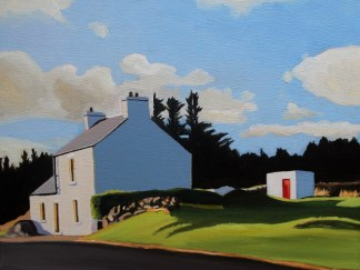 Painting of an old house in Donegal