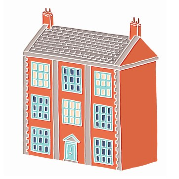 Little Big House - hand-drawn and digitally coloured
