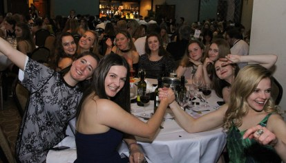CCWFRC well represented at Sportman's Ball - the chants, the rowdiness...