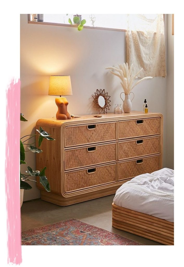 Seventies Bohemian Rattan Drawers from Urban Outfitters