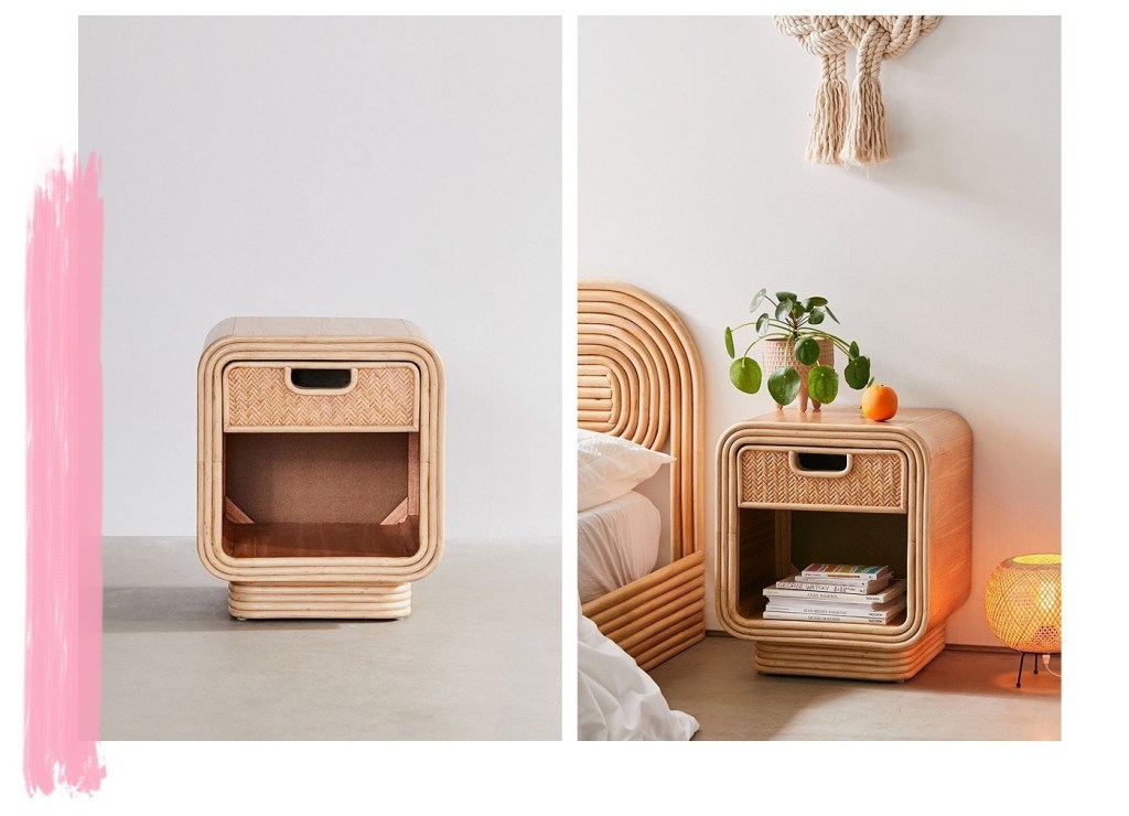 Seventies Bohemian Rattan Nightstand from Urban Outfitters