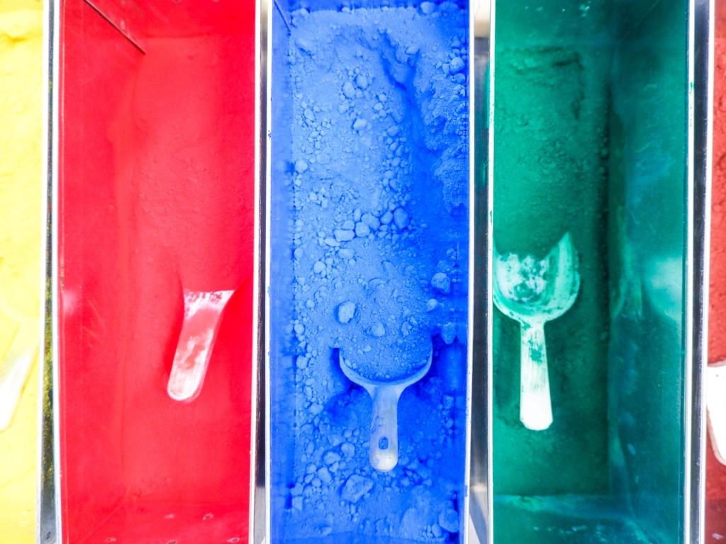 coloured pigment at caran d'ache factory
