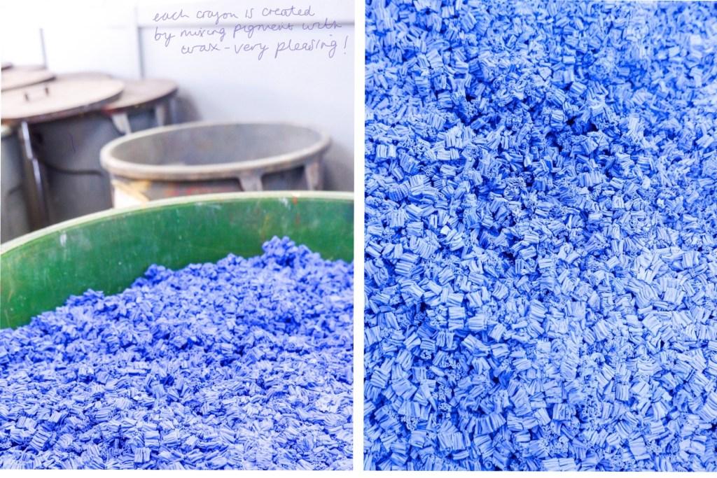 coloured wax at caran d'ache factory