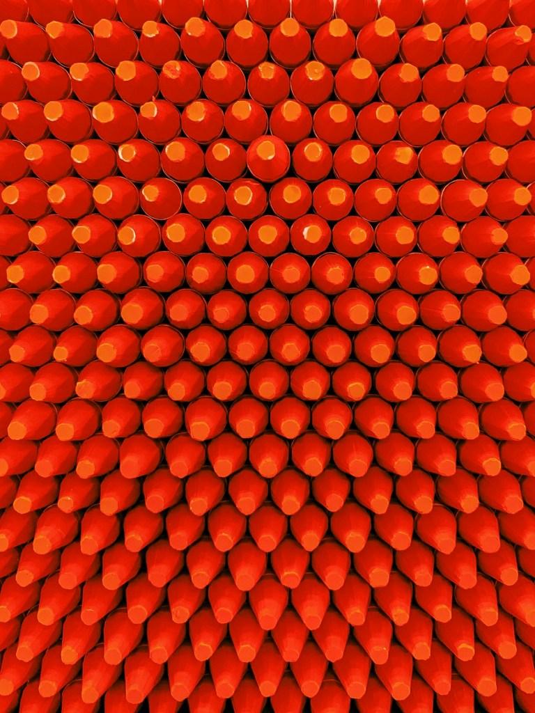 coloured crayons at caran d'ache factory