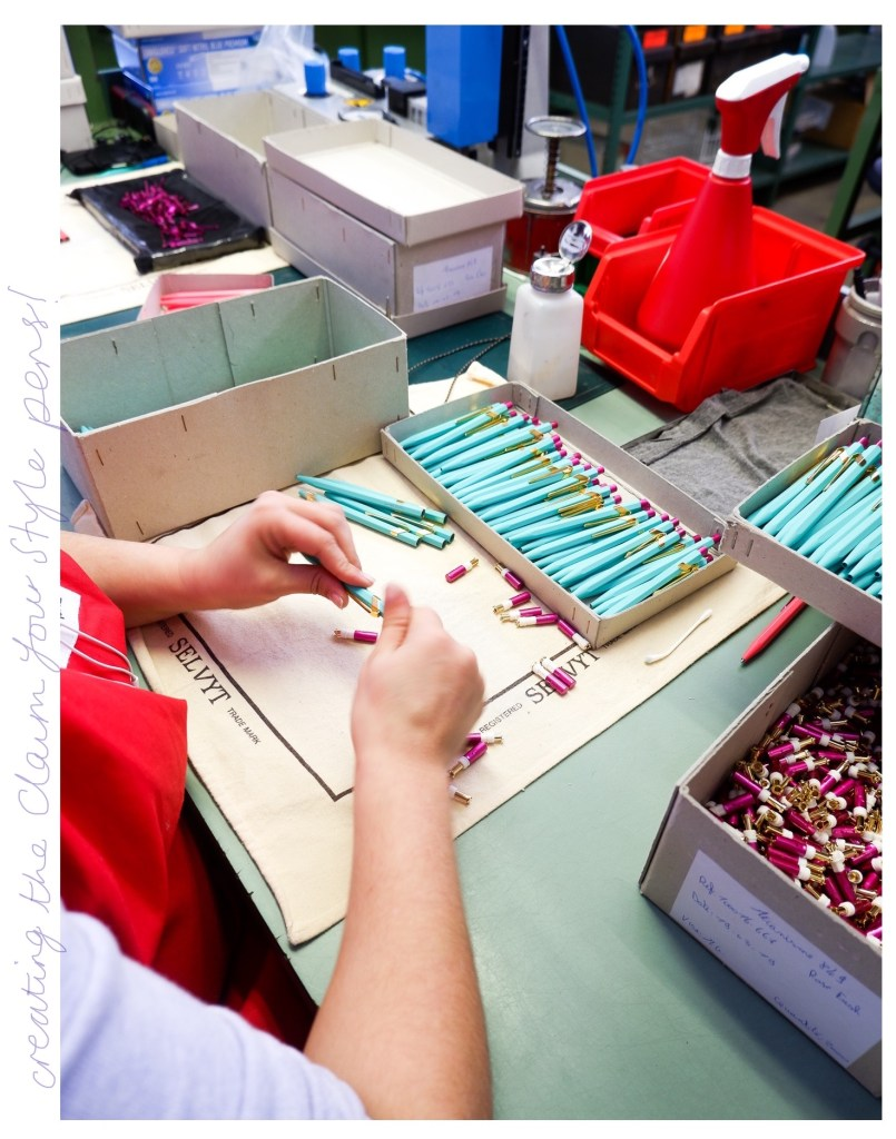 assembly of 848 claim your style pens at caran d'ache factory