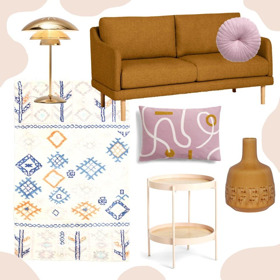 John Lewis living room moodboard