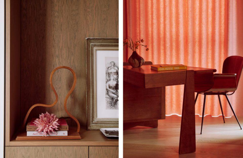 sculptural details in living room