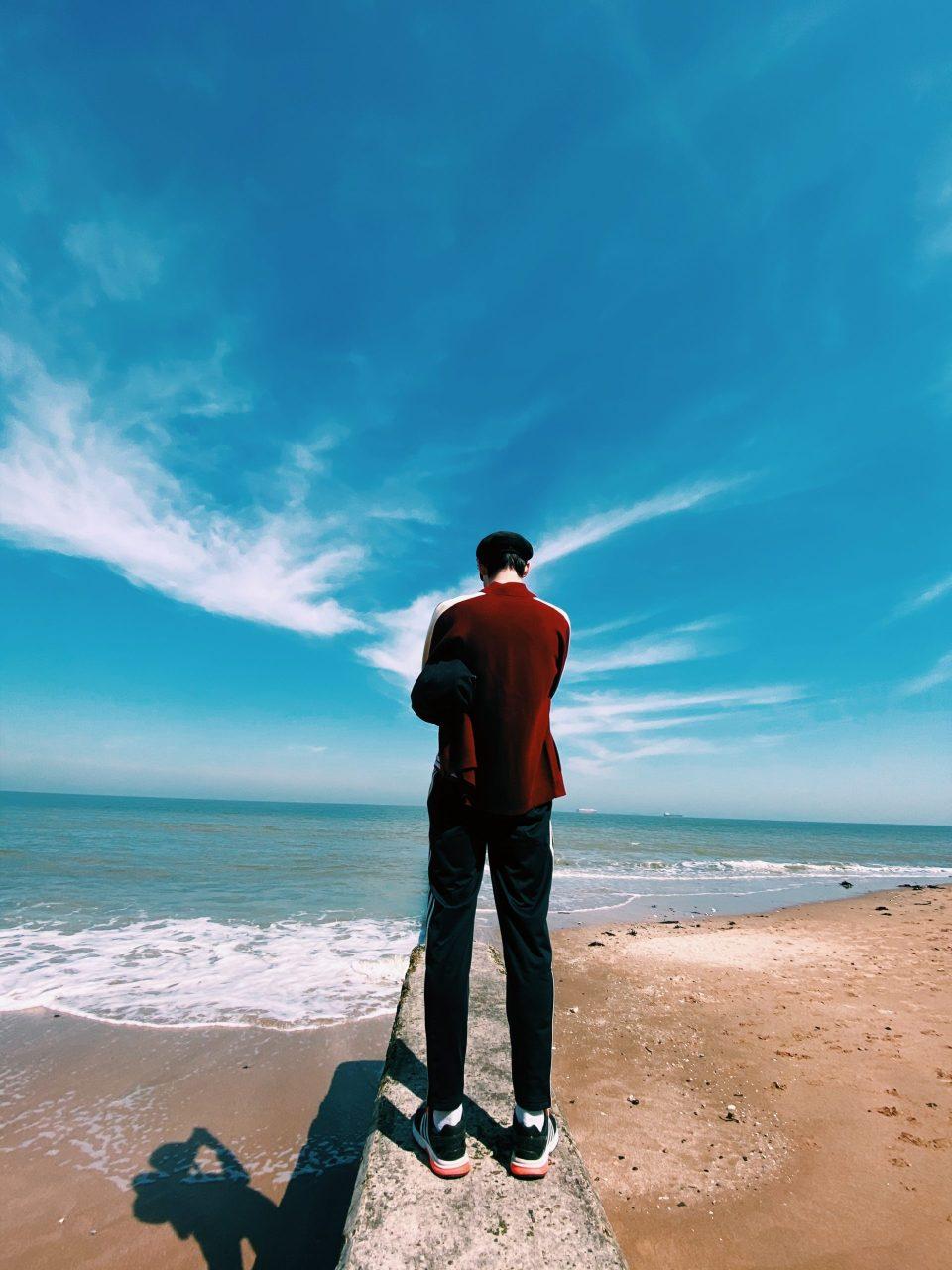 josh standing on Walpole bay beach in Margate