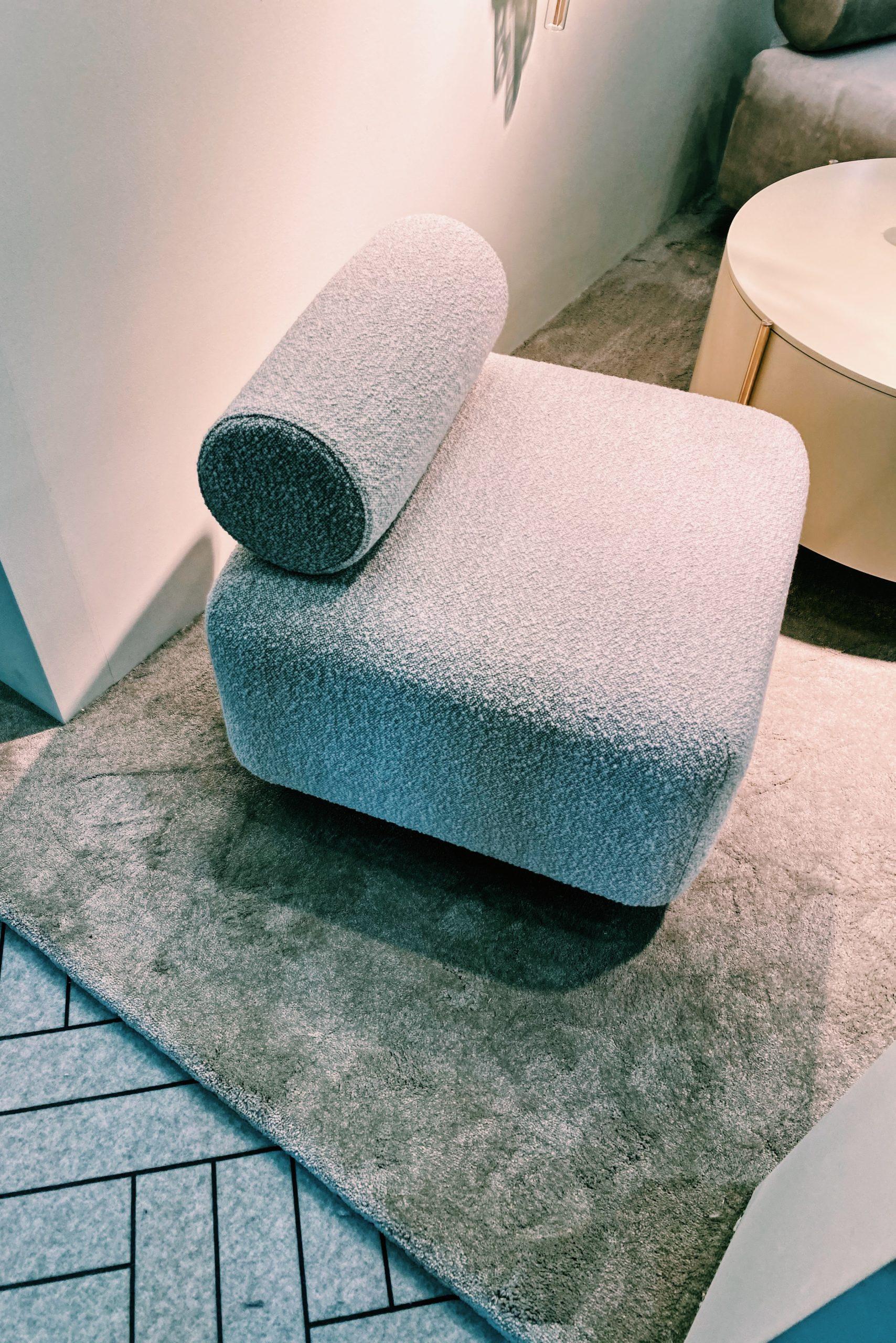 gray statement armchair