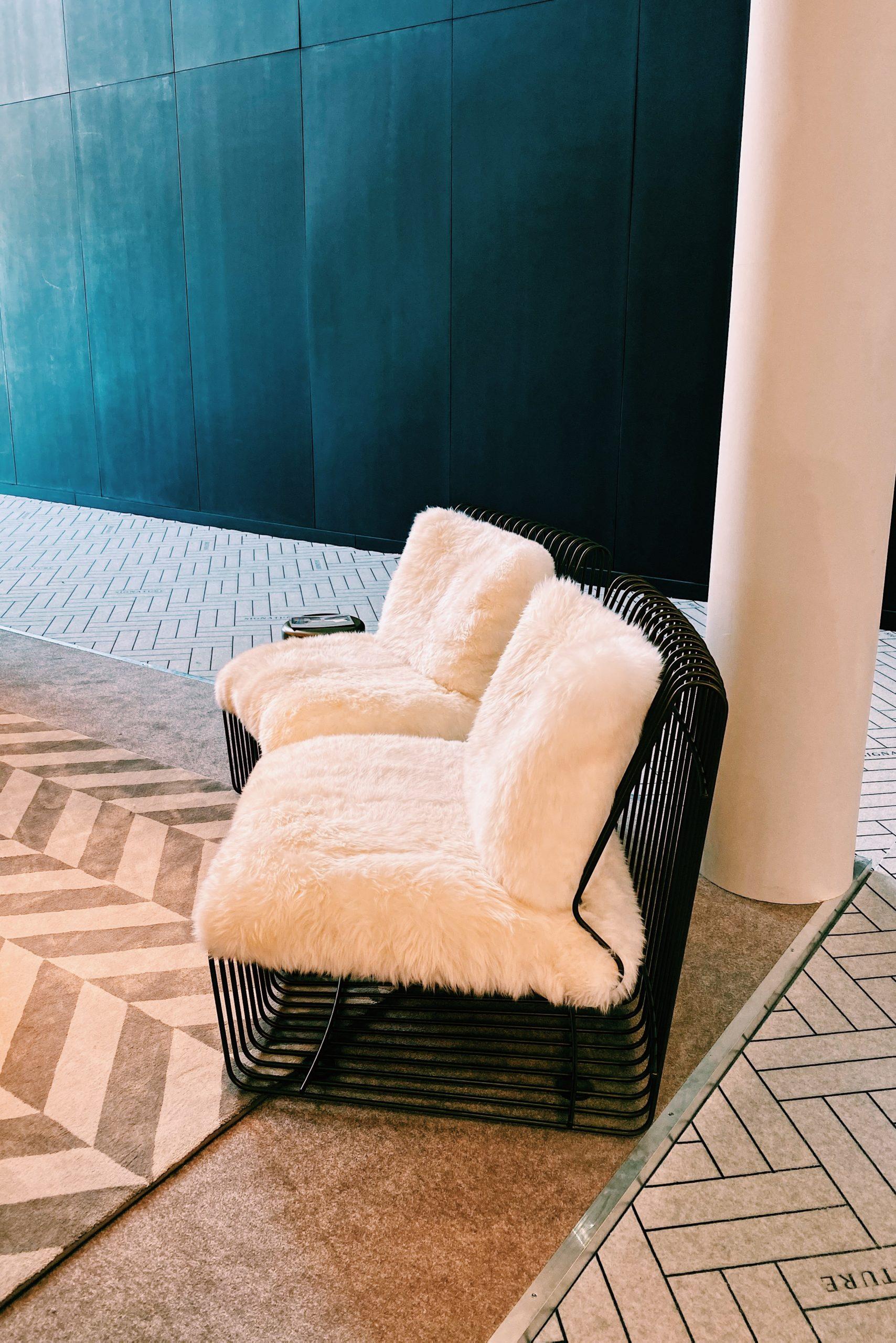 sheepskin statement armchair