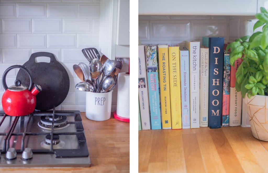 kitchen and cookbooks