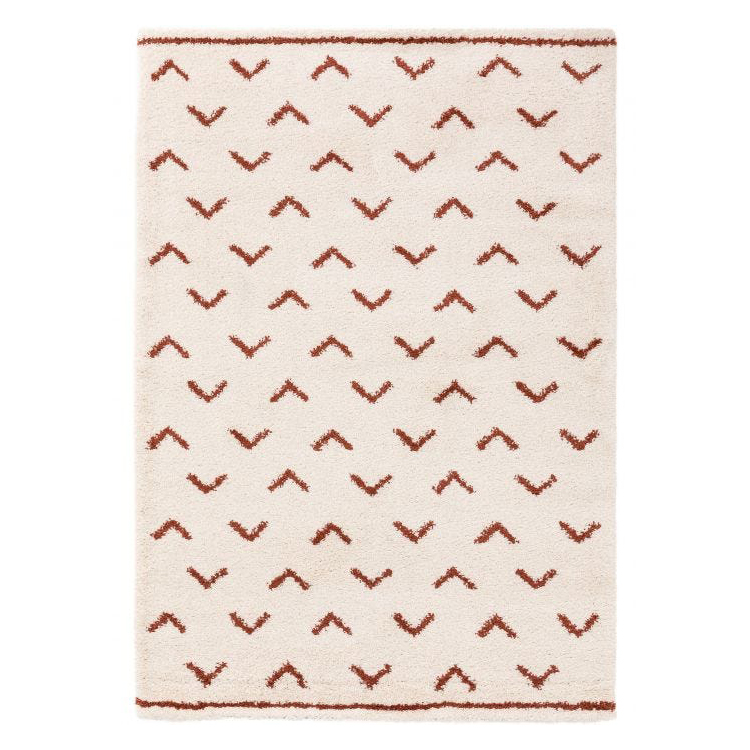 beige and rust berber style rug