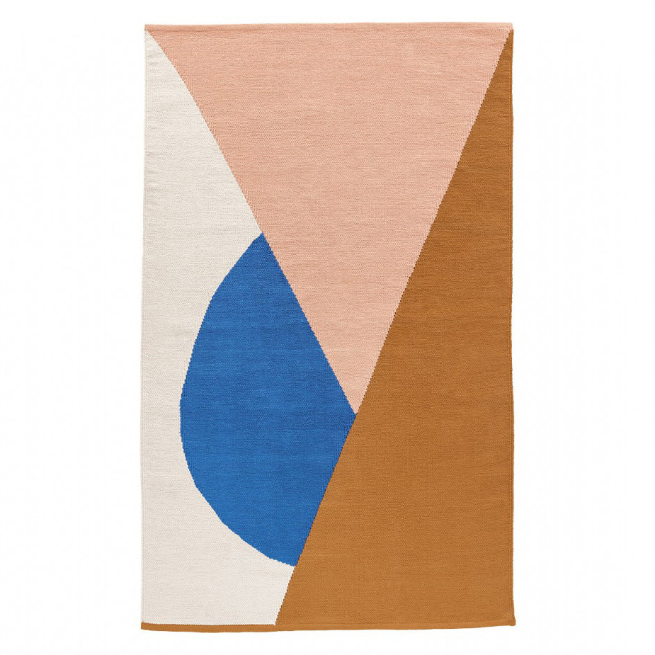 sunrise multi-coloured flatware rug