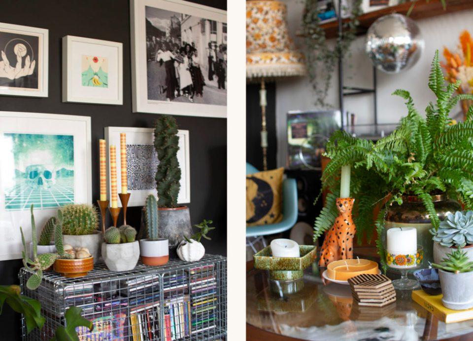 maximalist decor with plants