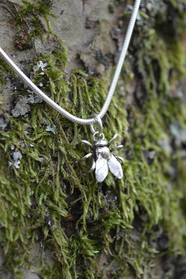 House Fly Pendant 2 - Emma Keating Jewellery