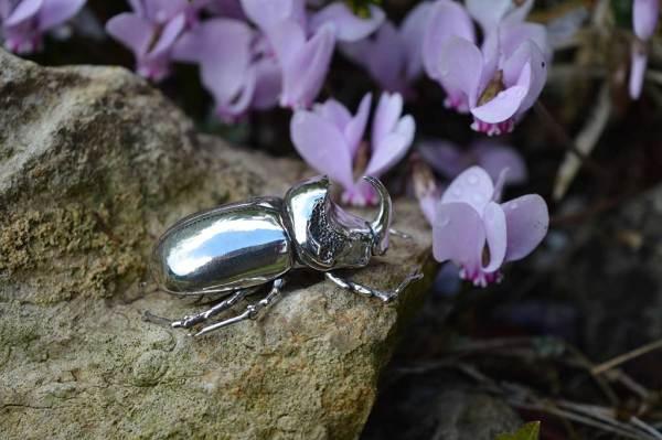 European Rhinoceros Beetle Ornament--Emma-Keating-Jewellery