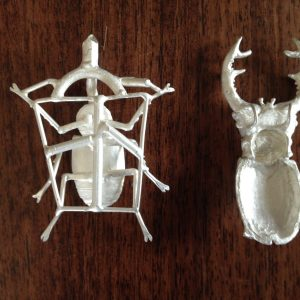 Stag Beetle cast - Emma Keating Jewellery
