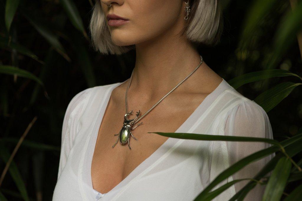 Stag Beetle Pendant - Emma Keating Jewellery CW3