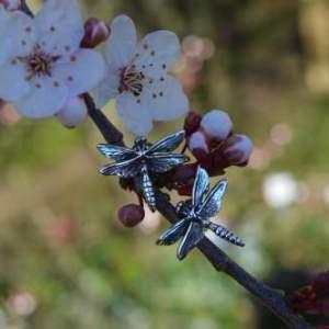 Brilliant Emerald Dragonfly Earrings