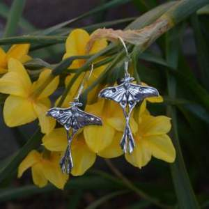 madagascan moon moth earrings - emma keating