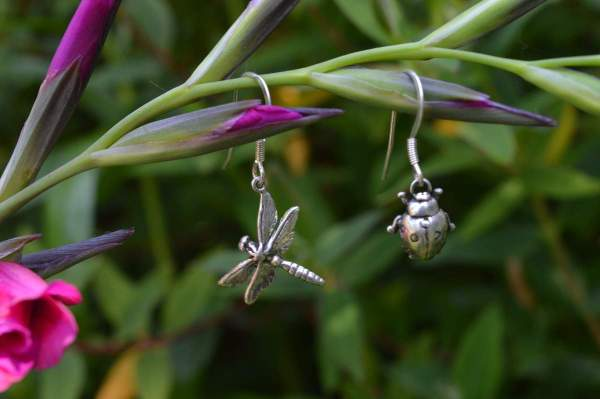 Dragonfly Ladybird drops 2 - Emma Keating Jewellery