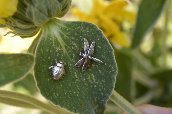 Dragonfly Ladybird studs 3 Emma Keating Jewellery